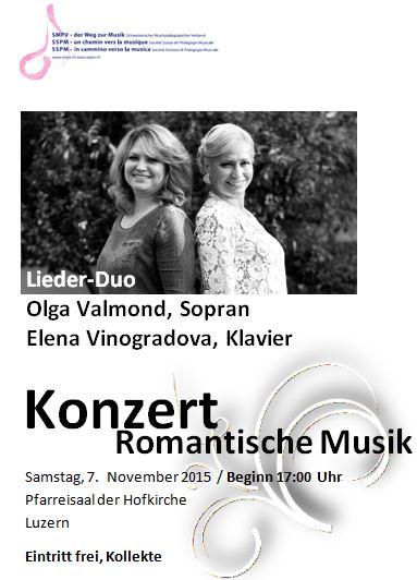 2015NOV - Konzert Romantische Musik